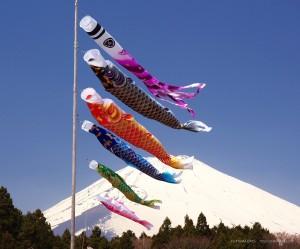 富士山とこいのぼり