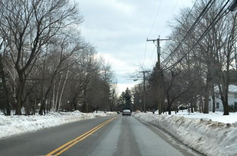 冬季の雪道①