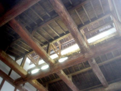 温泉の屋根