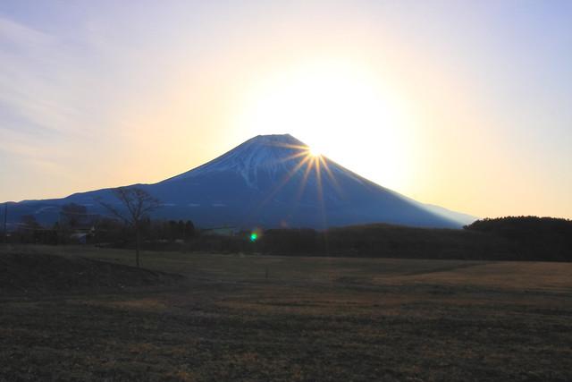 朝霧高原と富士山